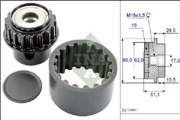 LR001471 COUPLING WITH LR025968 PULLEY KIT 535020610